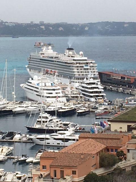 The Viking Star, docked in Monaco's busy harbor