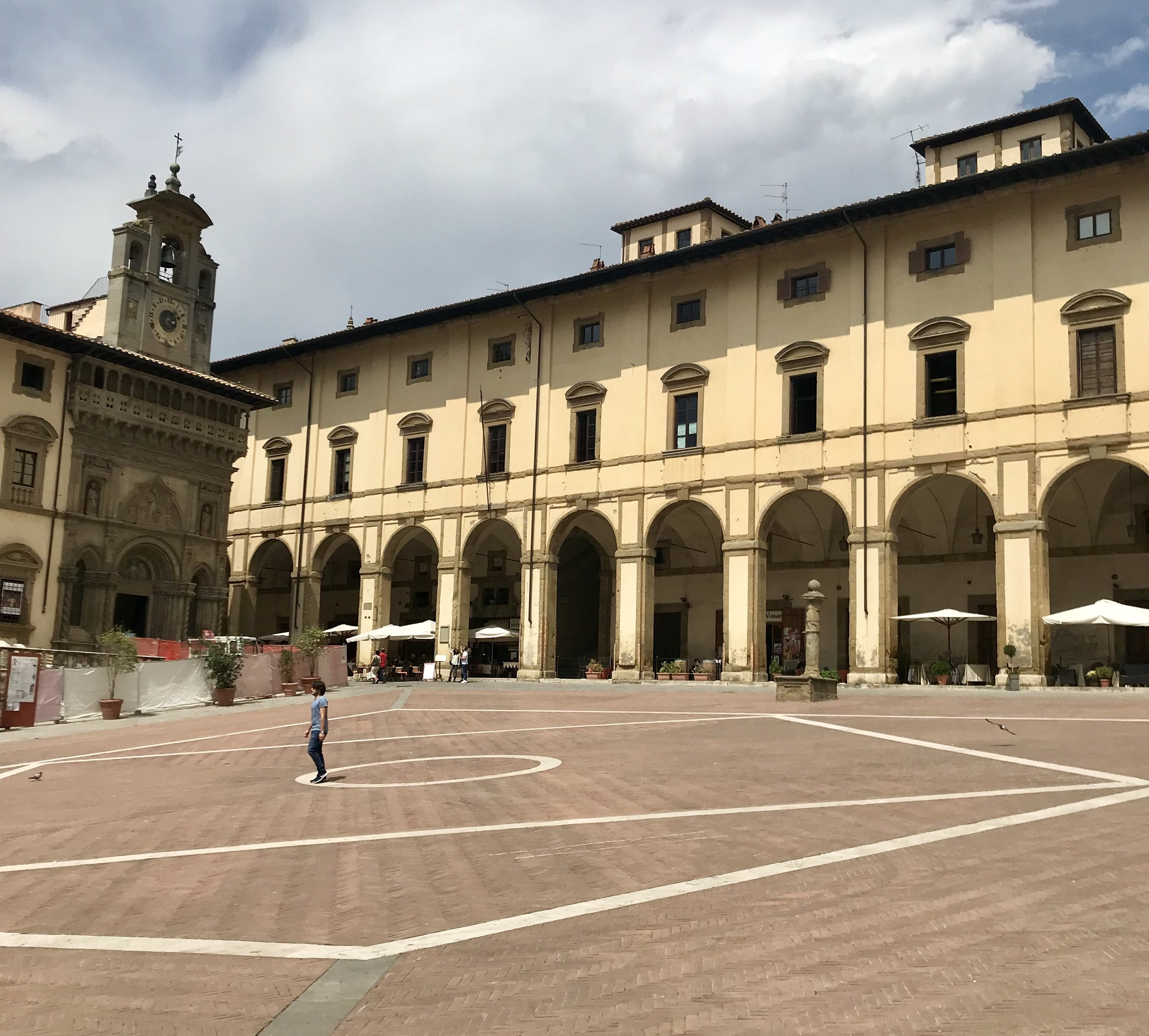 """Piazza Grande in Arezzo is where much of the movie """"Life is Beautiful"""" was filmed."""