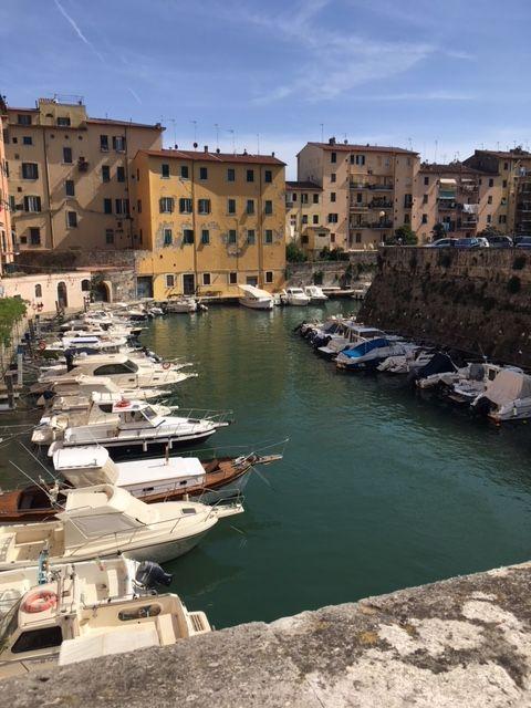 A stretch of canal in Venezia Nuova, Livorno