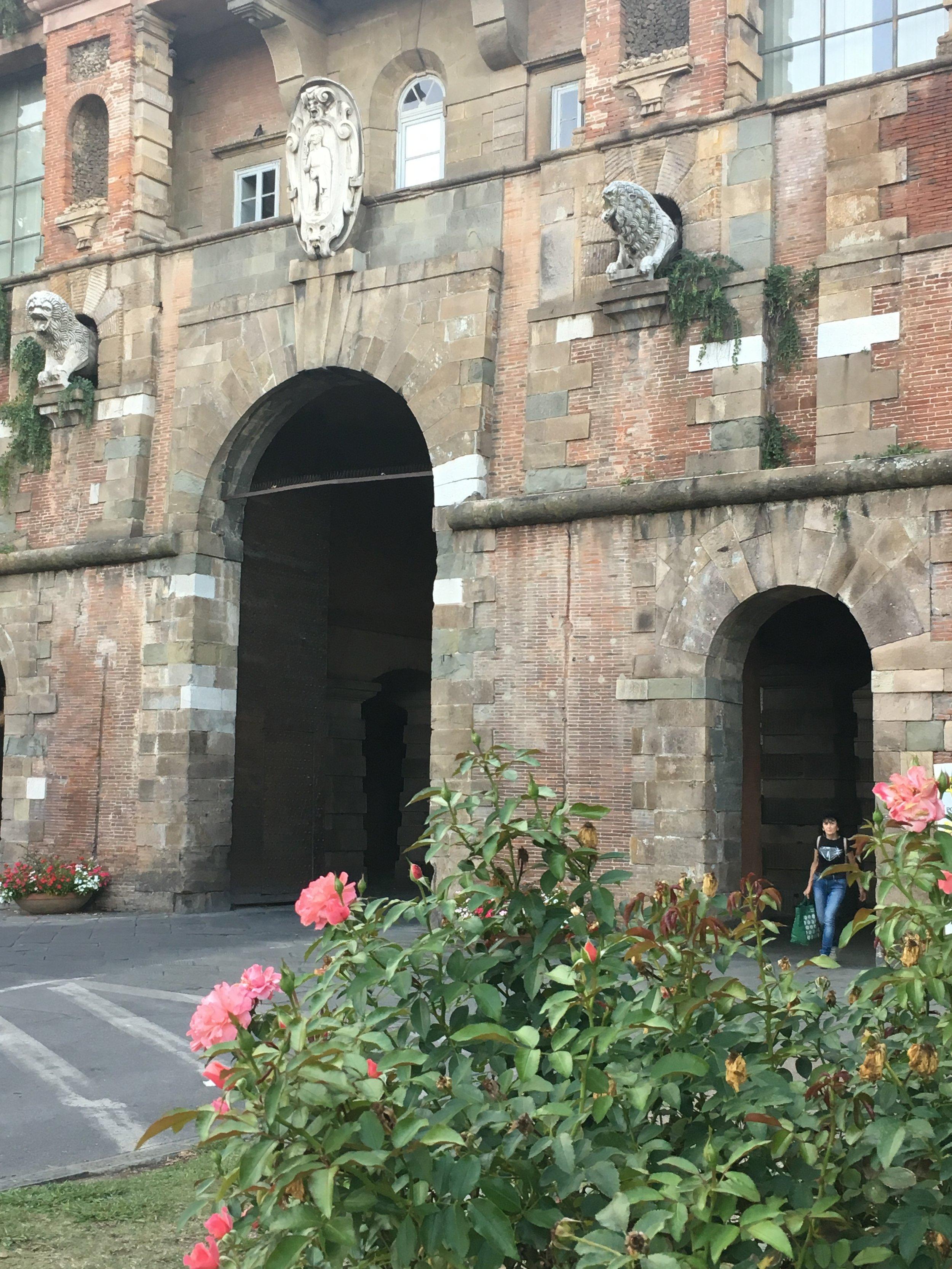 Porta San Pietro, one of entrances into Lucca.