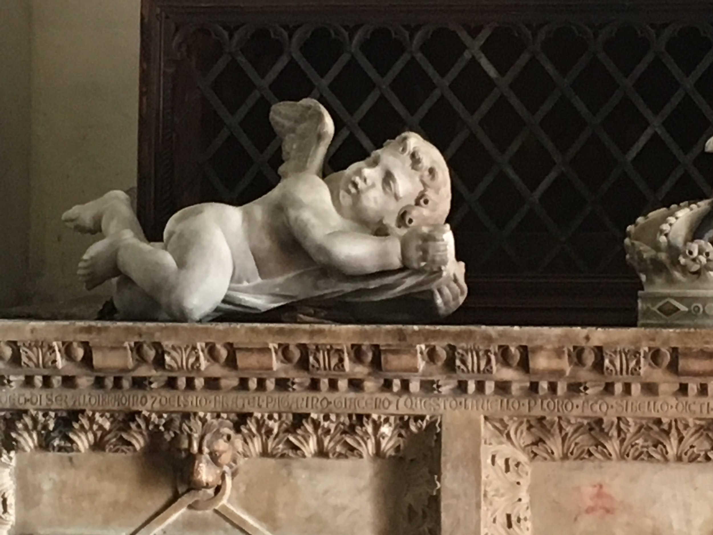 Putto (cherub), church of San Frediano, Lucca, Italy