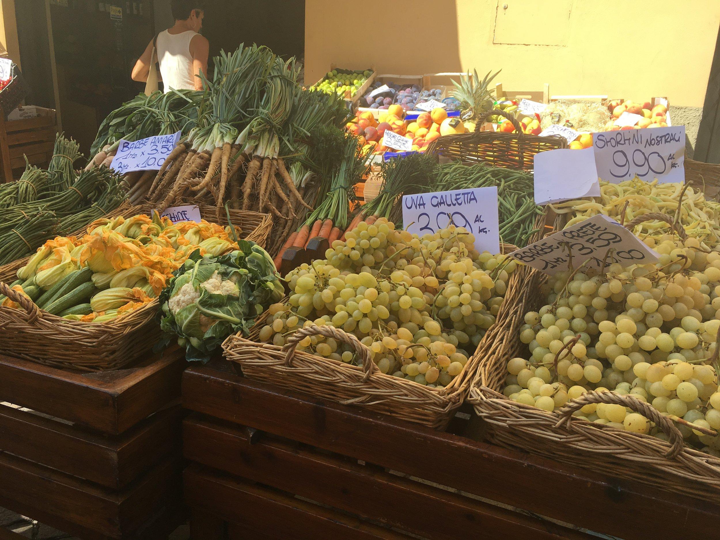 Fall harvest at the street fair