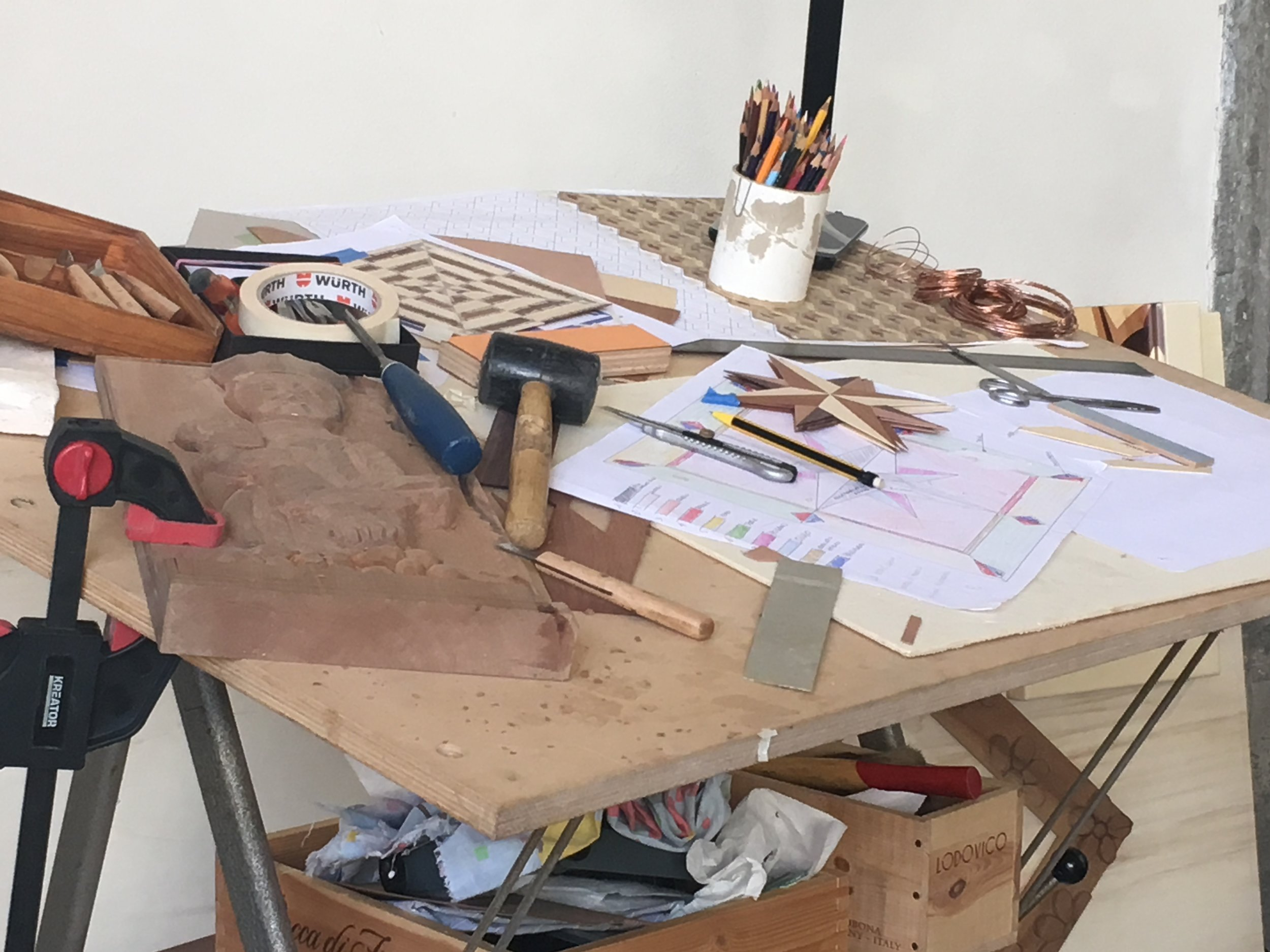 A woodworkers bench