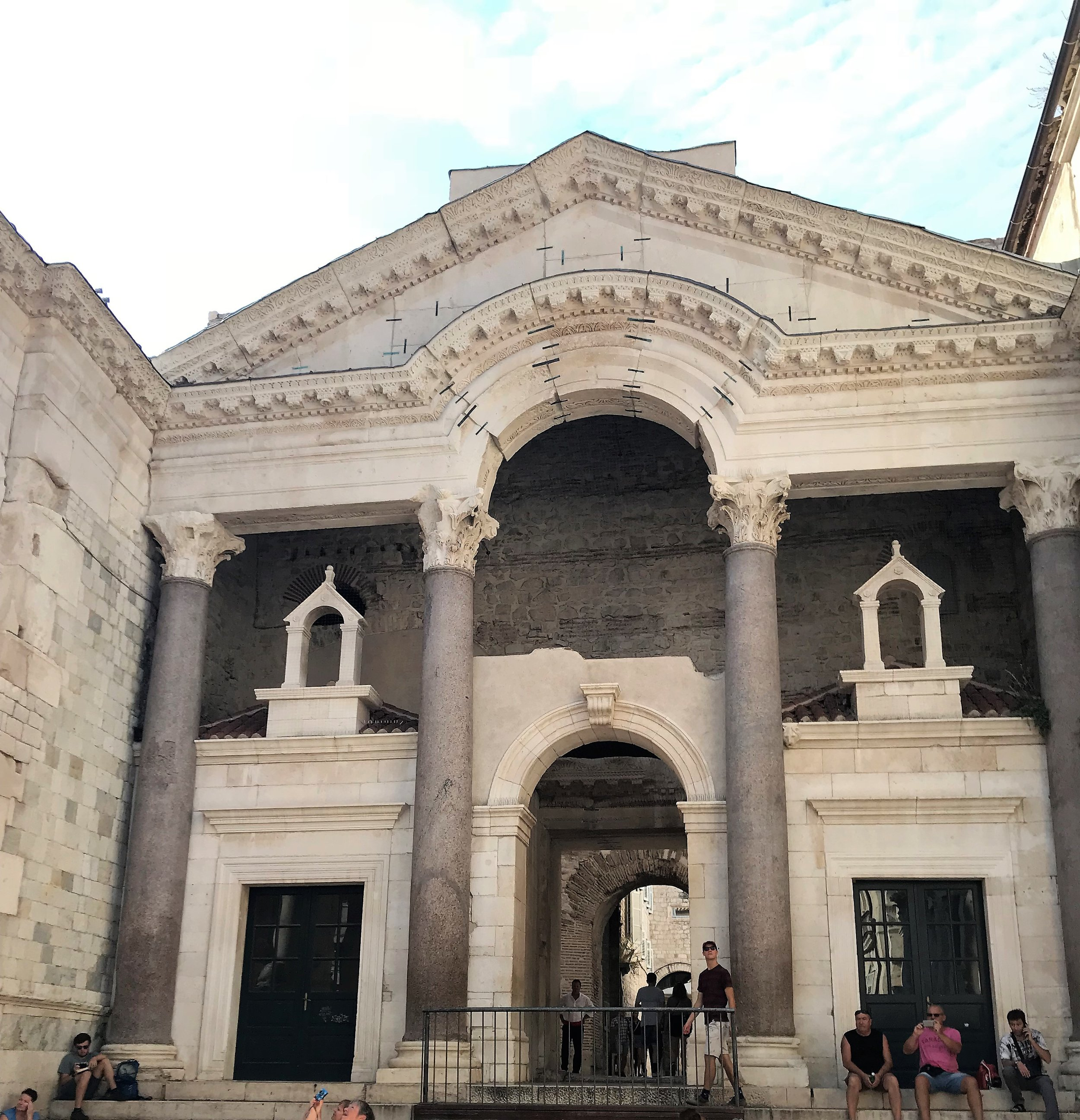 The central square of the Palace of Diocletian in Split, Croatia
