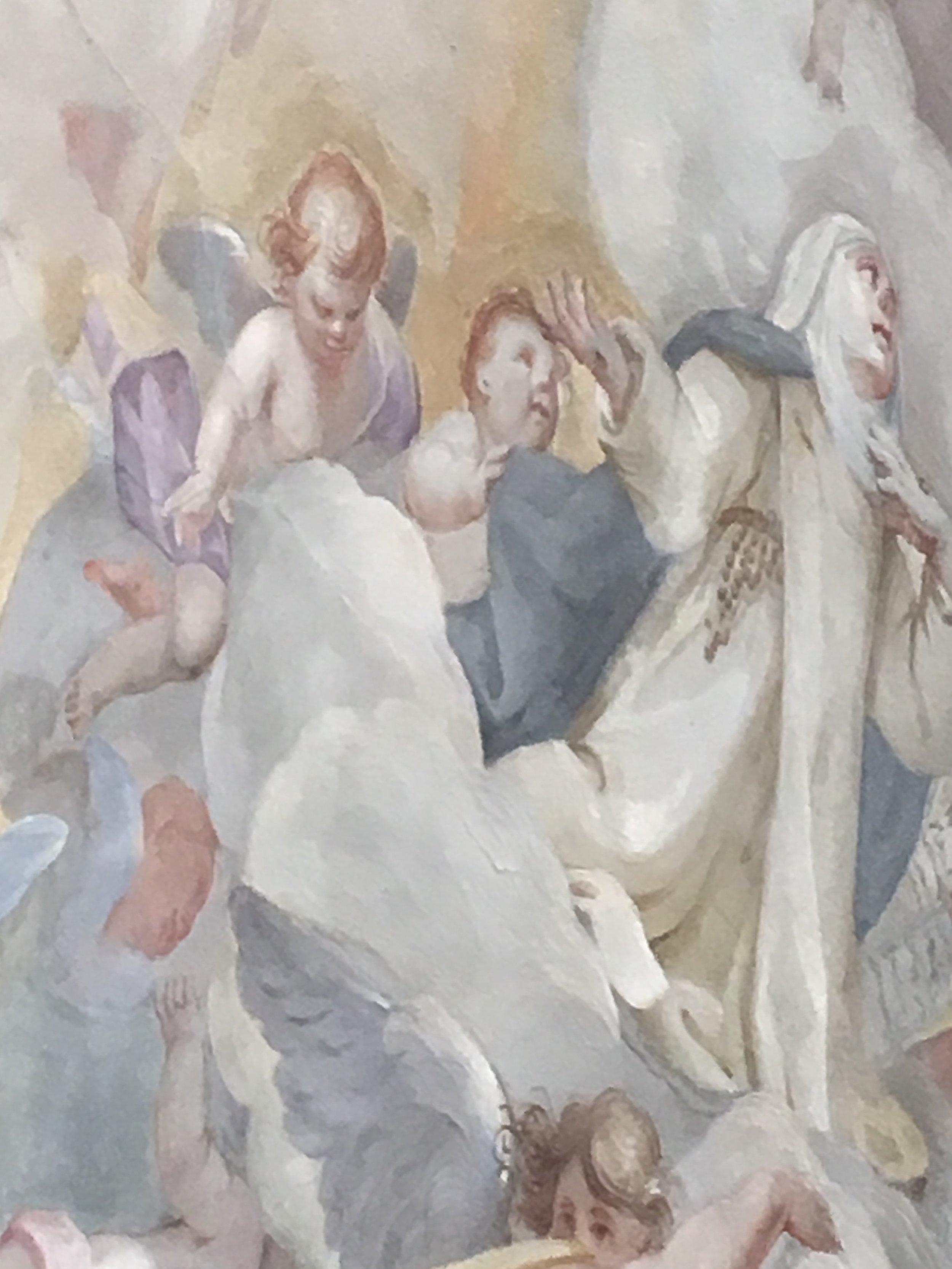 Detail from ceiling fresco