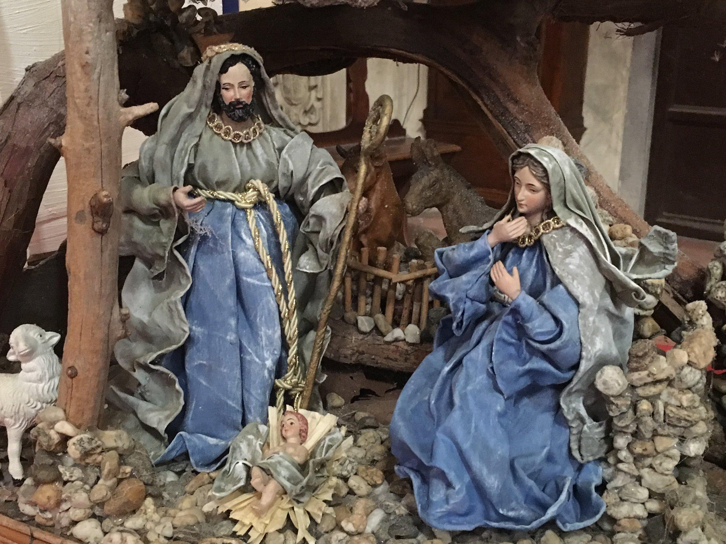 A traditional Nativity in the church of Santa Maria Corteorlandini, Lucca
