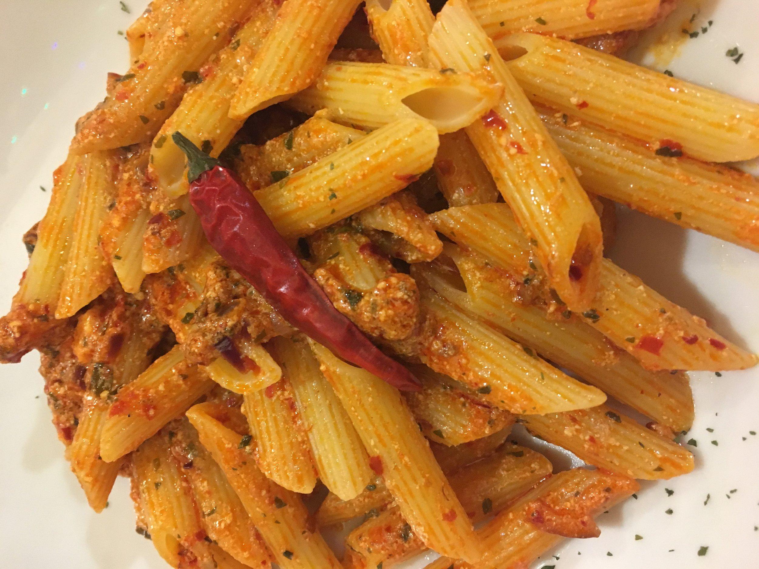 A spicy Arrabbiata alla Calabrese