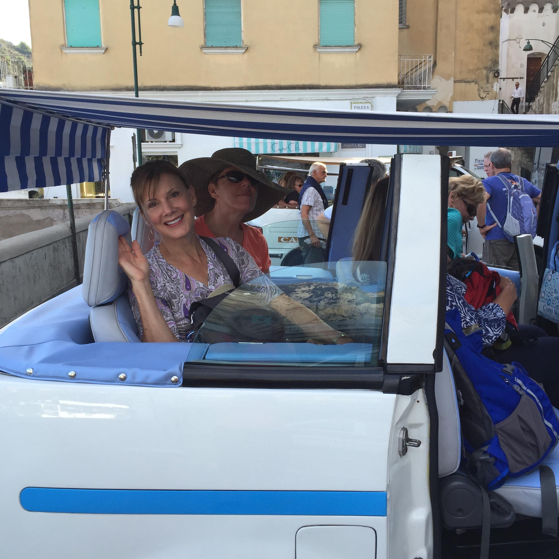 Even the cabs in Capri are special.