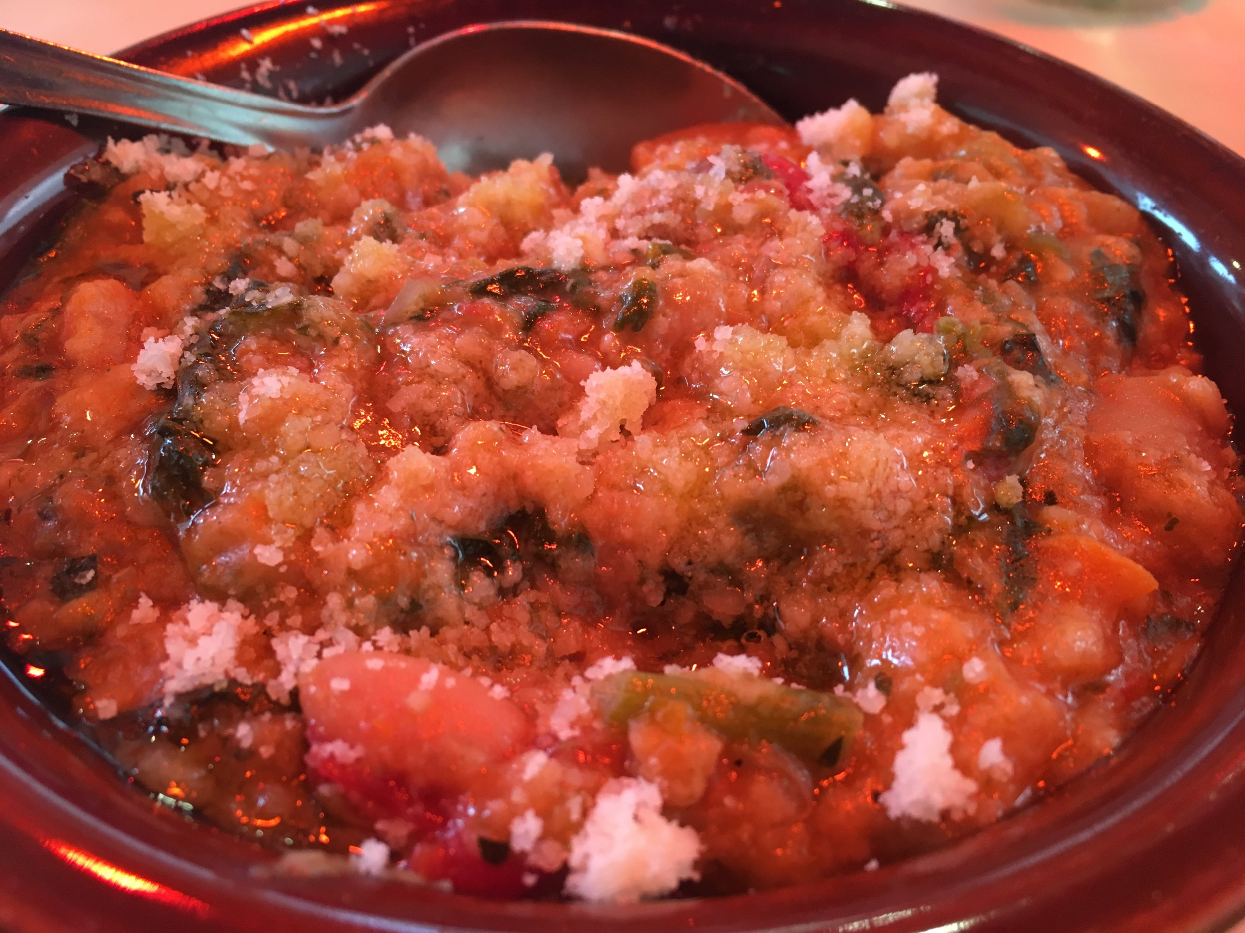 This ribollita looked good but was way too salty