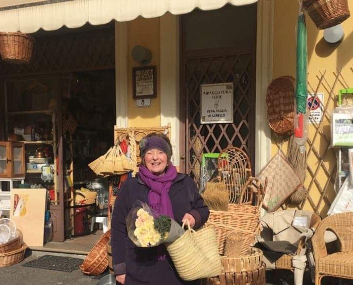 Bundled up to shop at the outdoor Saturday market