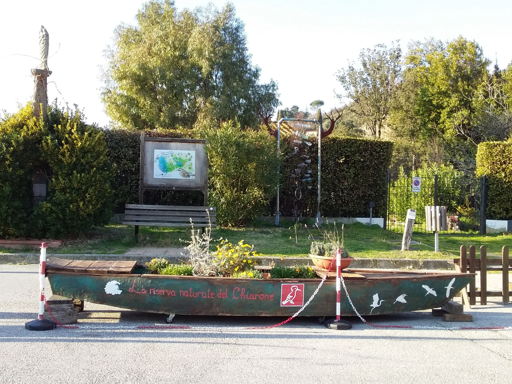 The entrance to the Oasi LIPU wetlands at Lake Massaciuccoli