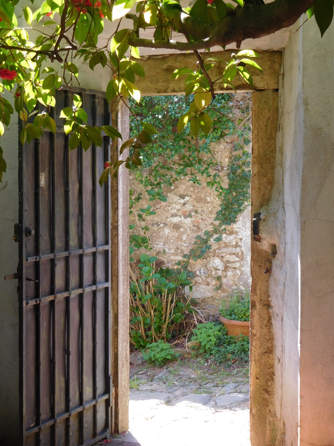 The entrance to the garden of Villa Borrina
