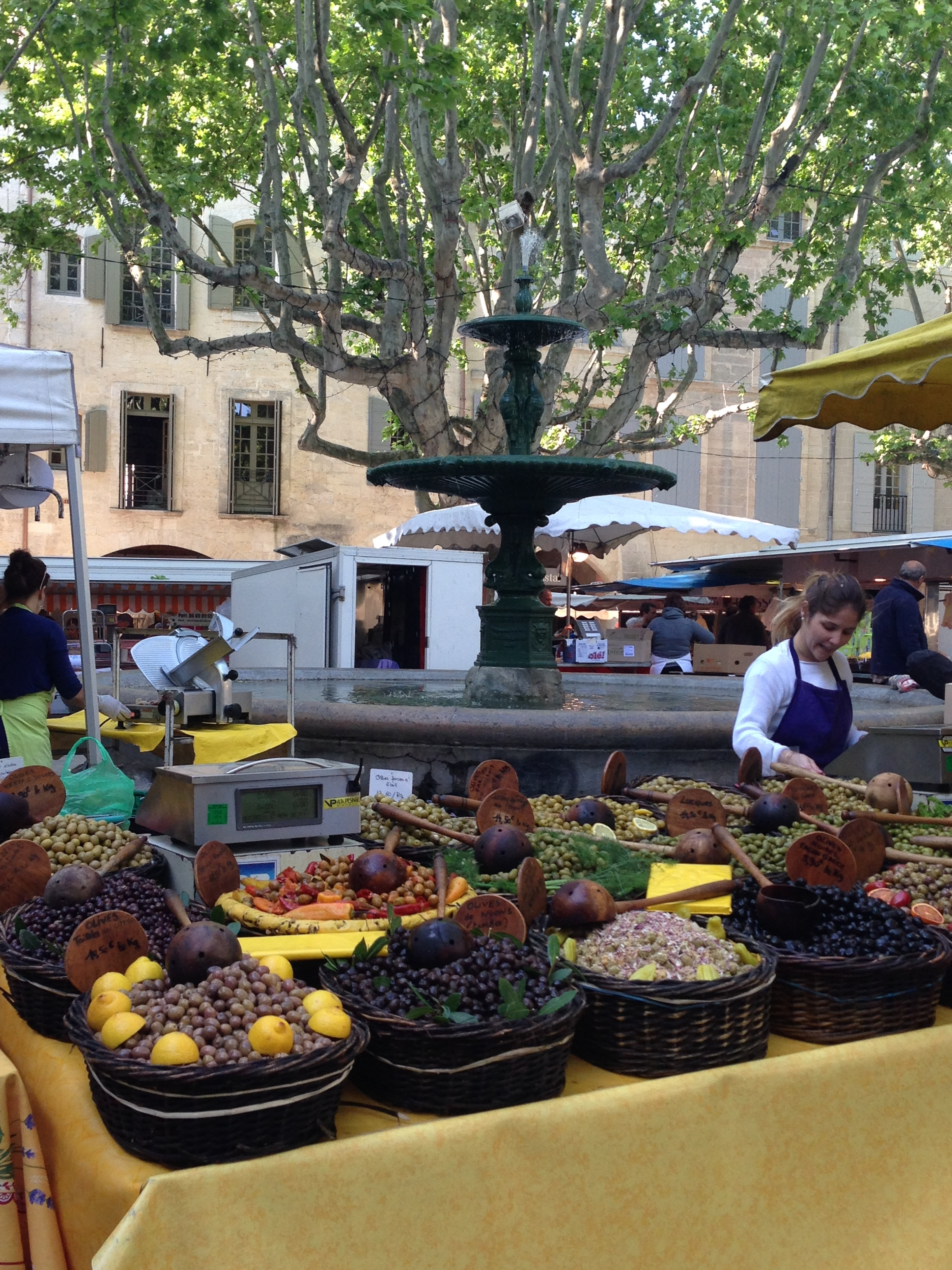 The charming market in Uzes, France, 2014