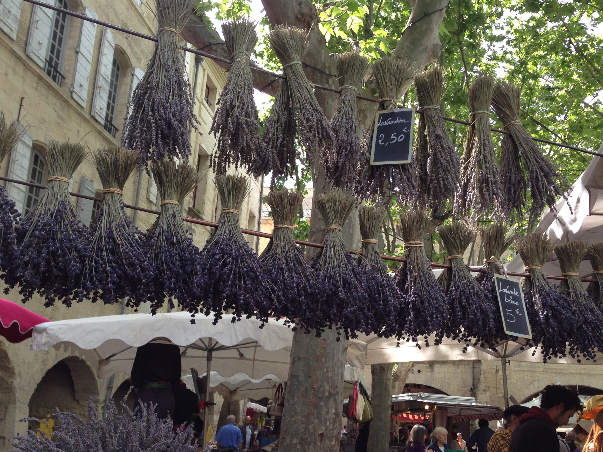 Market in Uzes, France, 2014