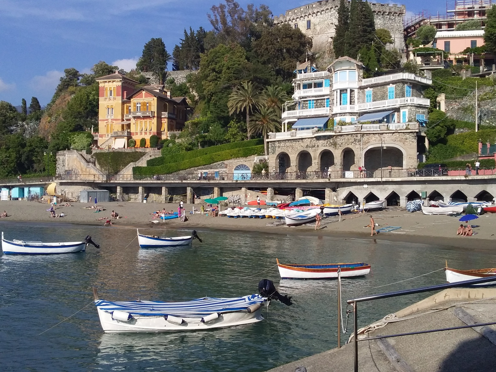 Levanto has beaches, boats, views, good food, and even a castle.