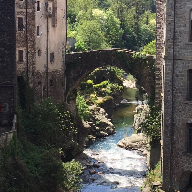 A bridge over the Magra River in Bagnone, Tuscany