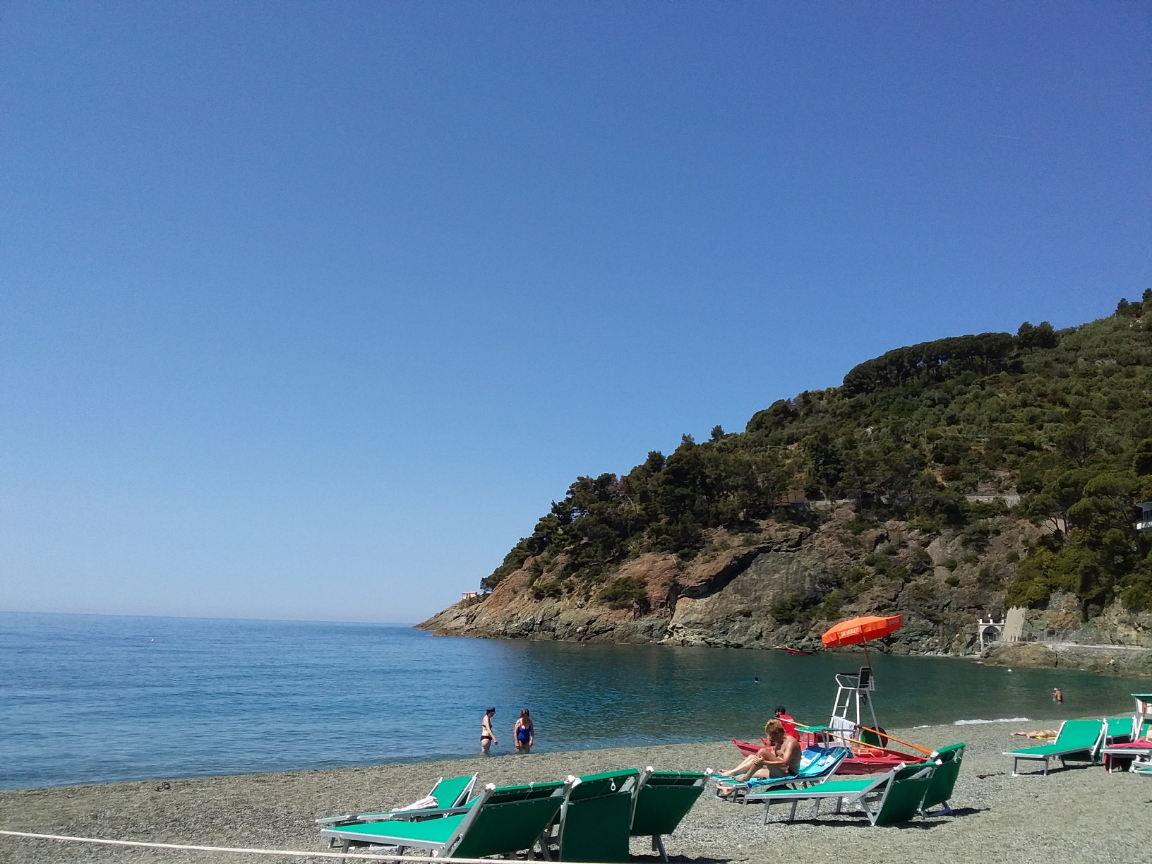 The beach at Bonassola