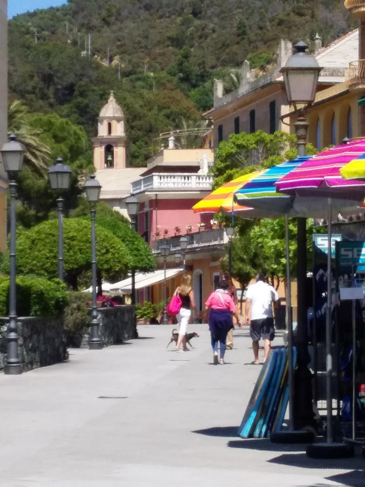 Bonassola's main pedestrian street