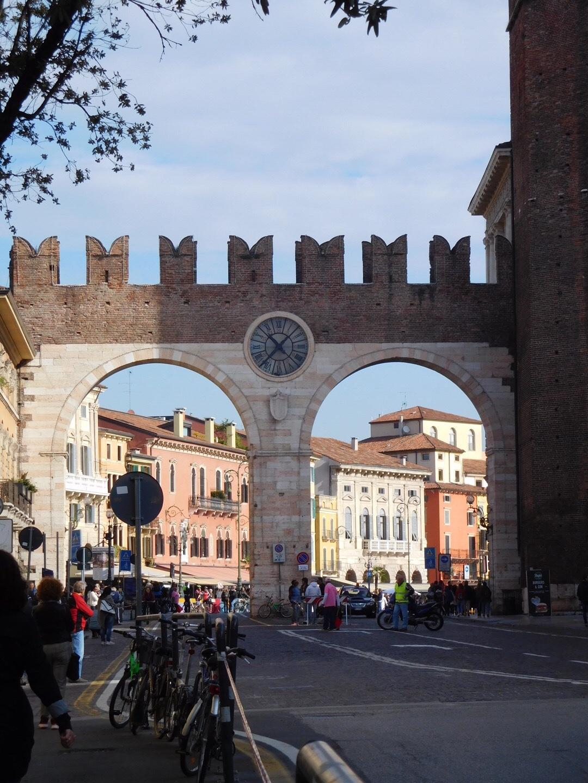 Piazza Bra,, Verona. Did Shakespeare need a visa?