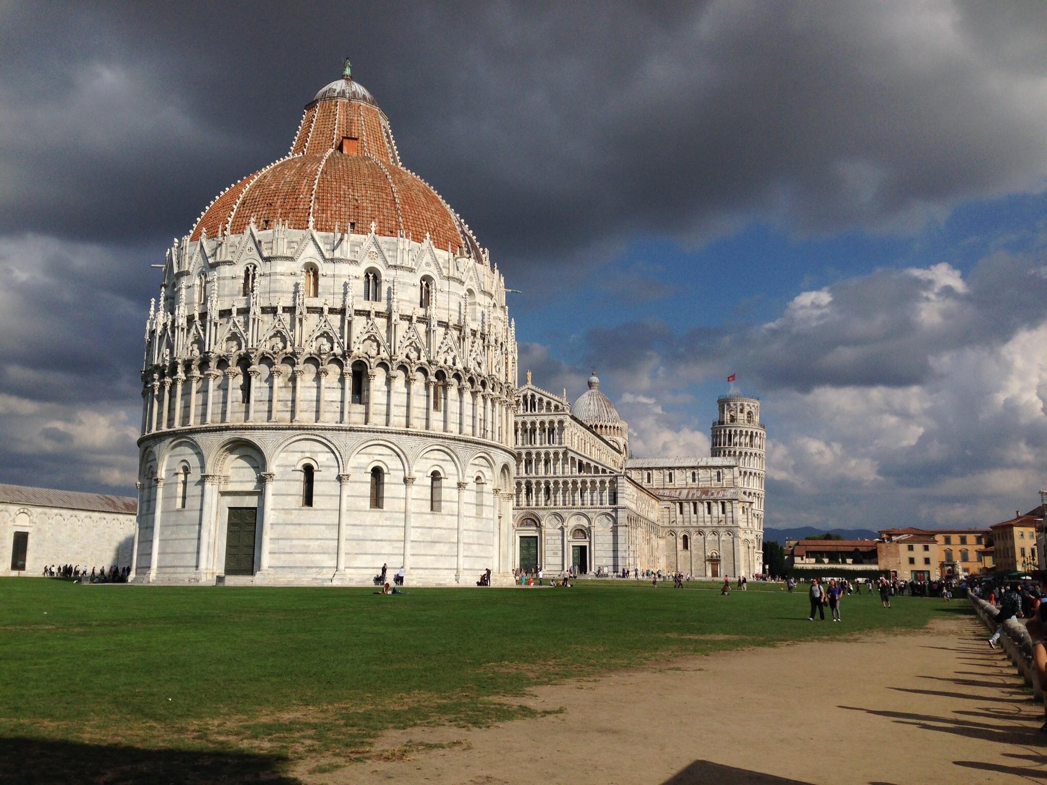 Stormy skies over Pisa