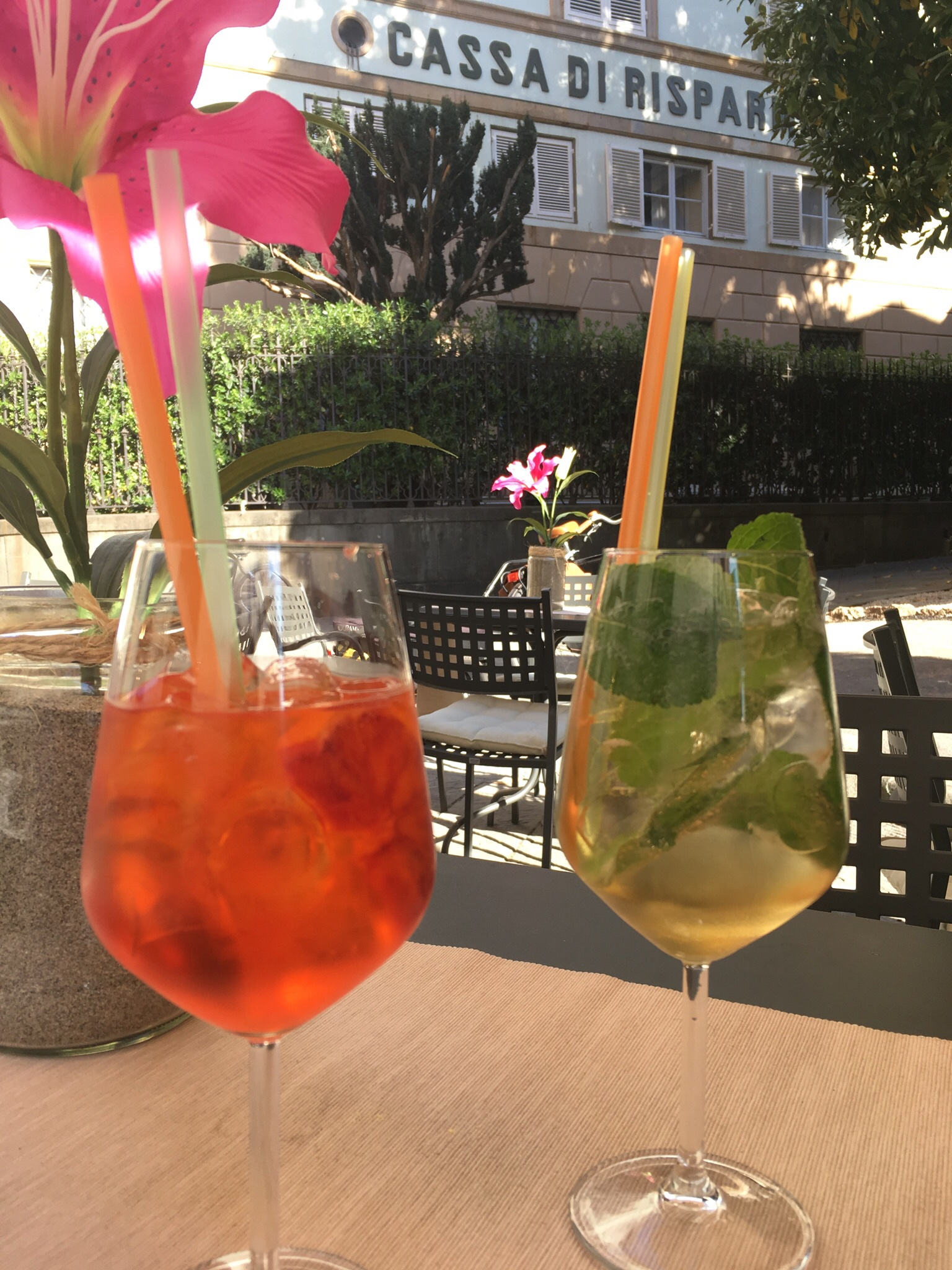 Enoteca Santa Cristina in Lucca has a great selection of summer drinks.