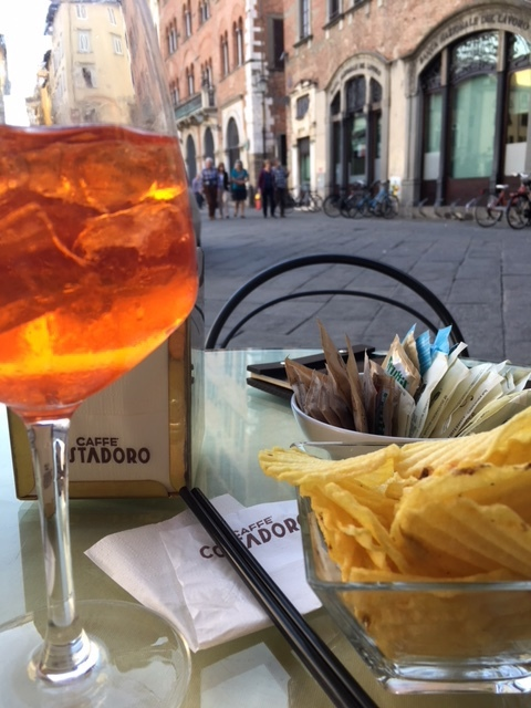 Aperol spritz - a classic summer cocktail in Italy