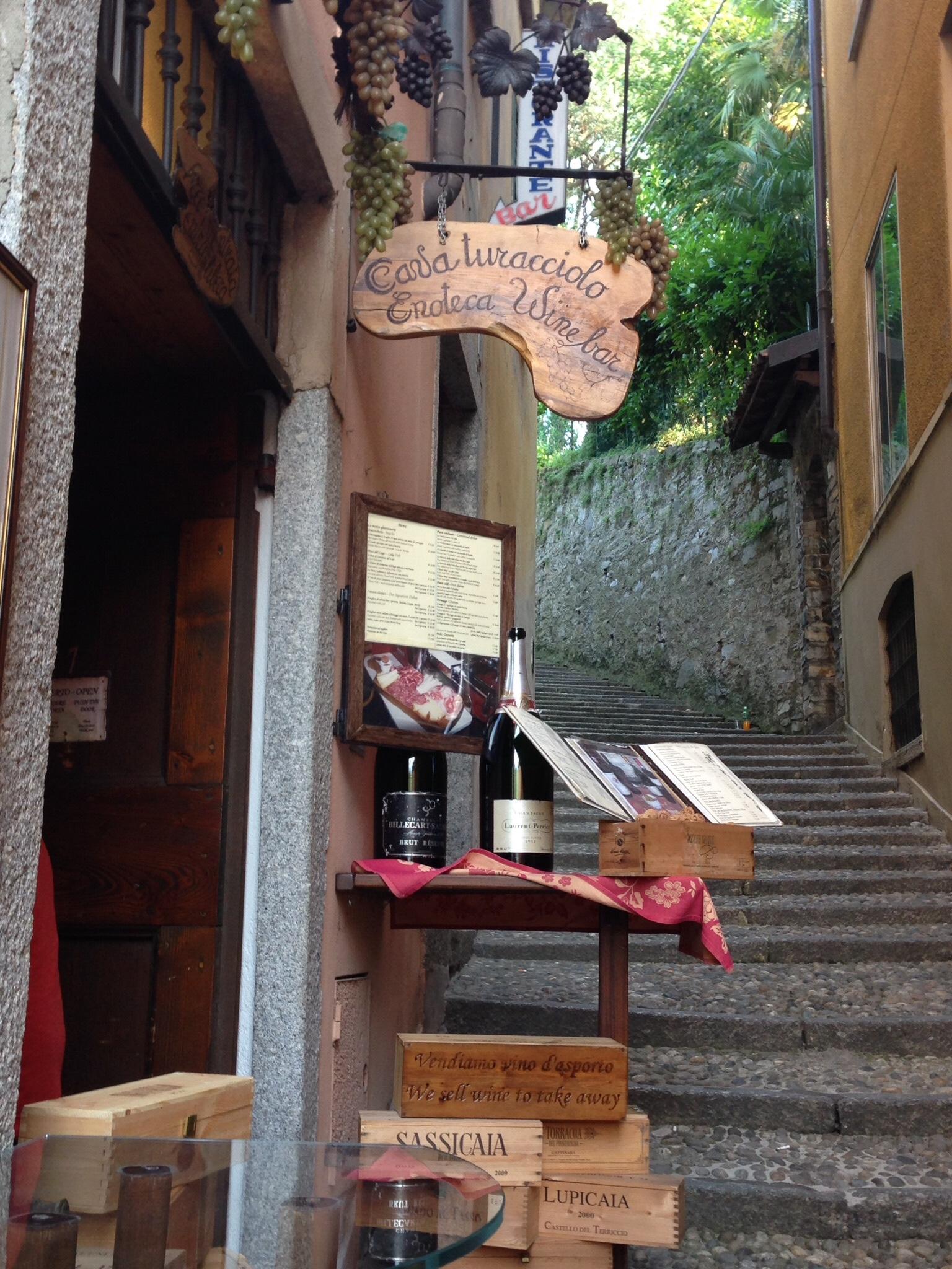 An enoteca (wine bar) in Bellagio, Lago di Como
