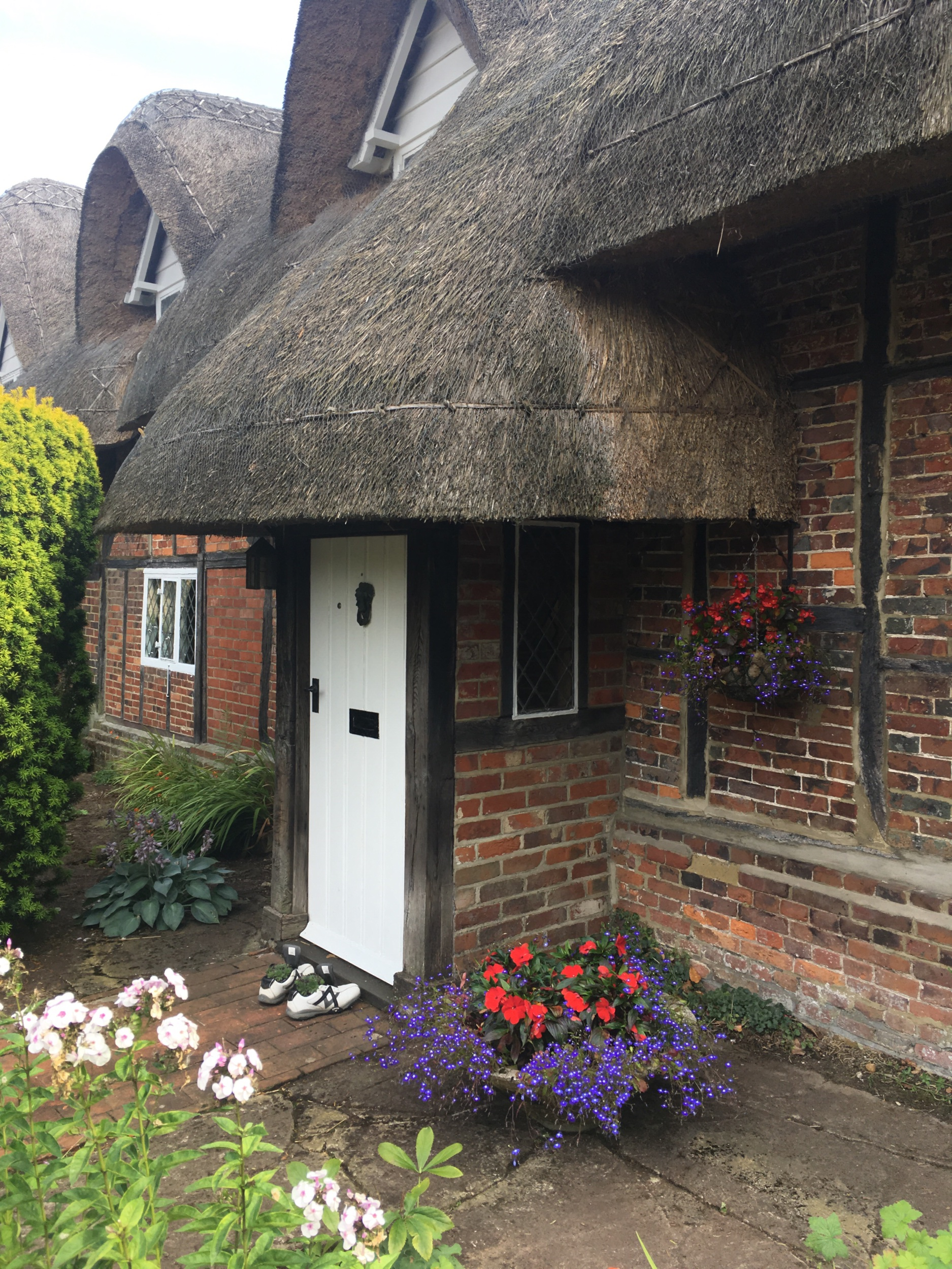 A thatched roof cottage in Chawton, Hampshire