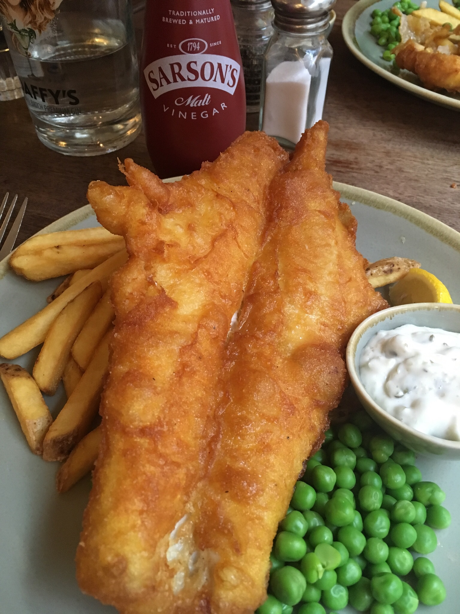 Fish and chips, classic Scottish pub food