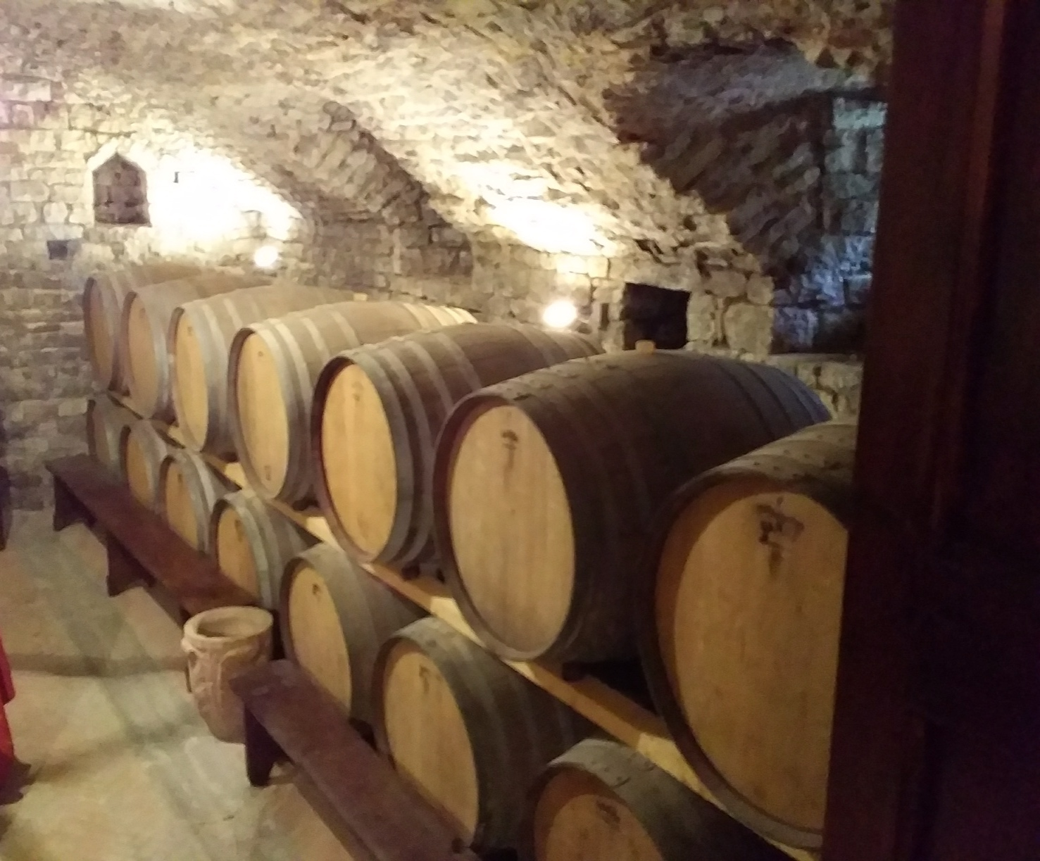 The old wine cellar and tasting room at Canonica a Cerreto