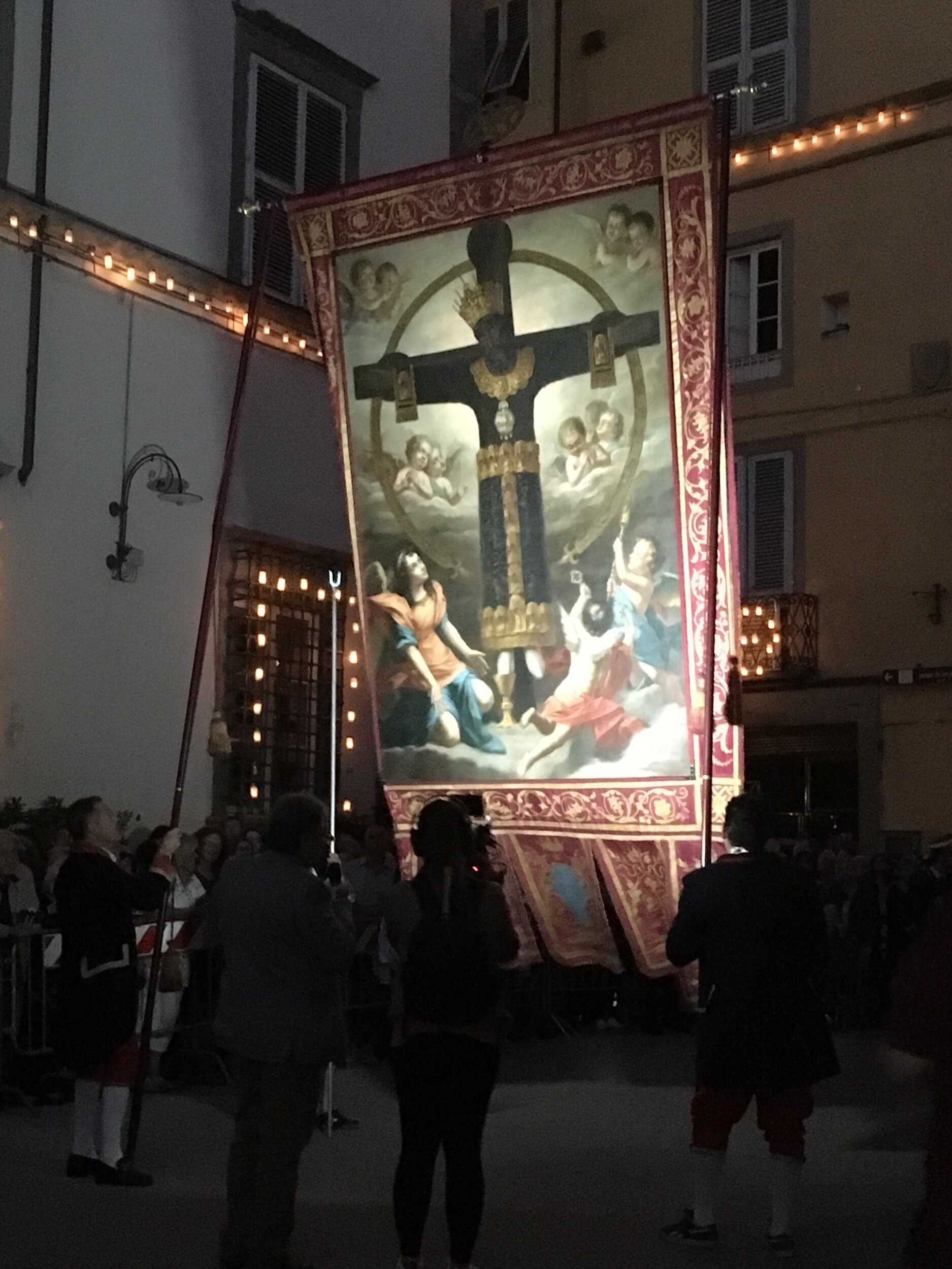 The  Santa Croce  (Holy Cross) procession, by candlelight, takes place on September 13 each year.