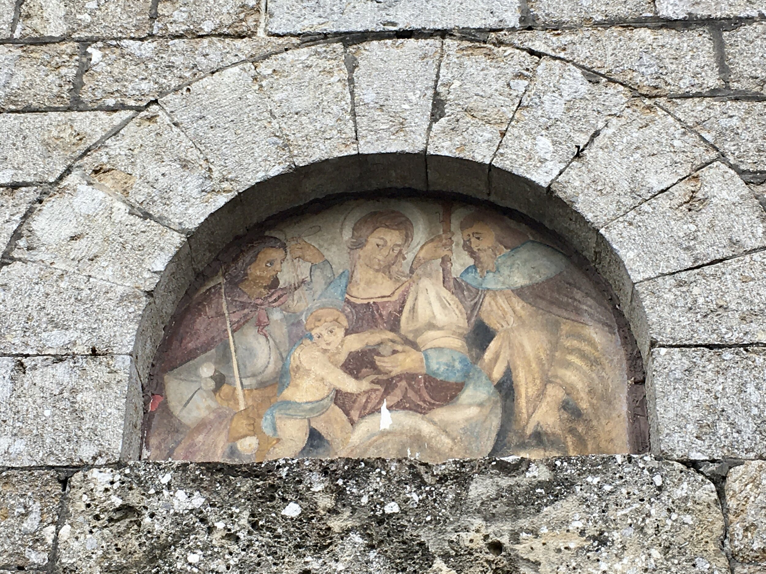 Over the entrance to Chiesa di San Michele Arcangelo