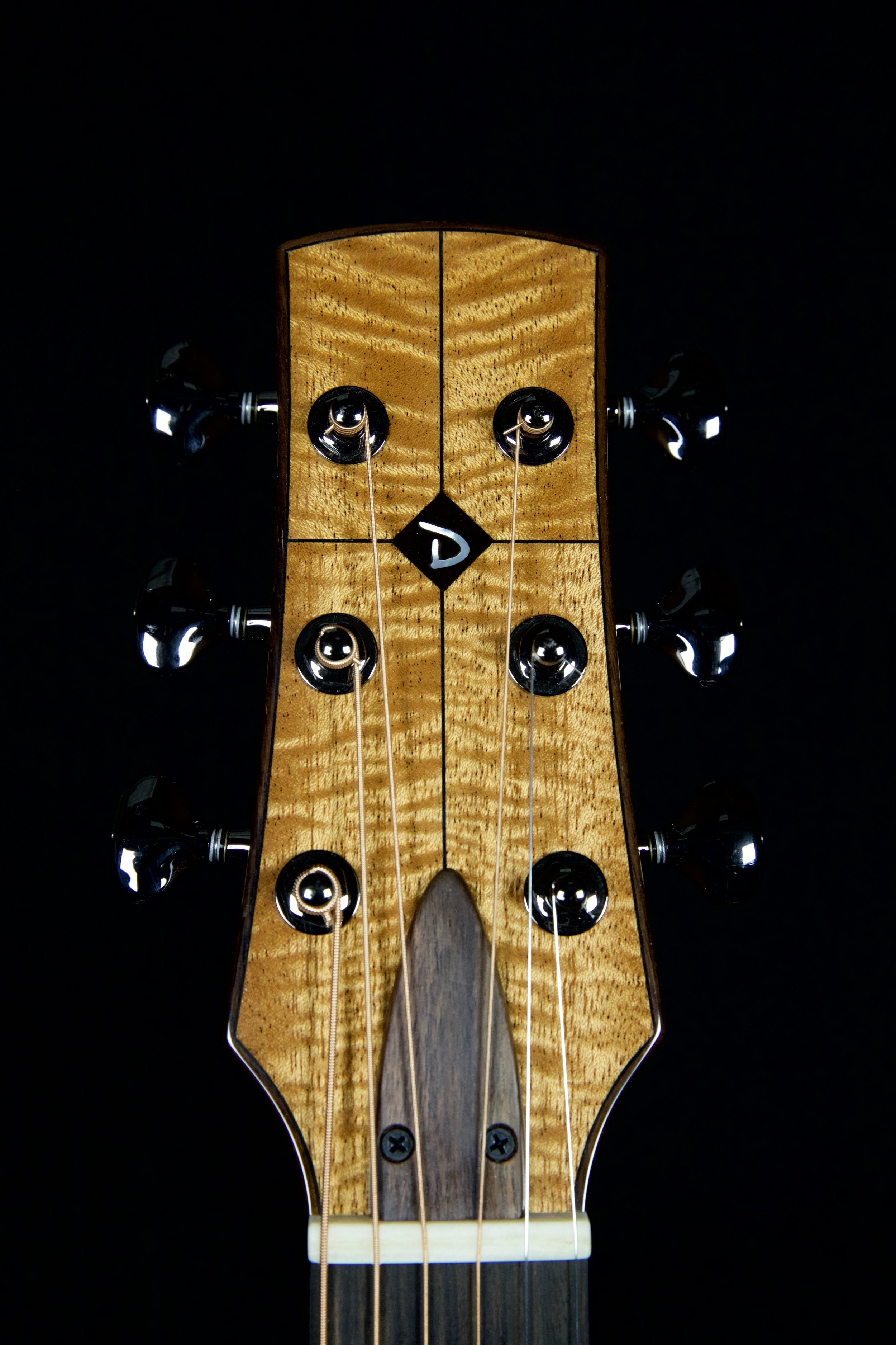Four Way Bookmatched Headstock with Binding and Mother of Pearl Inlay