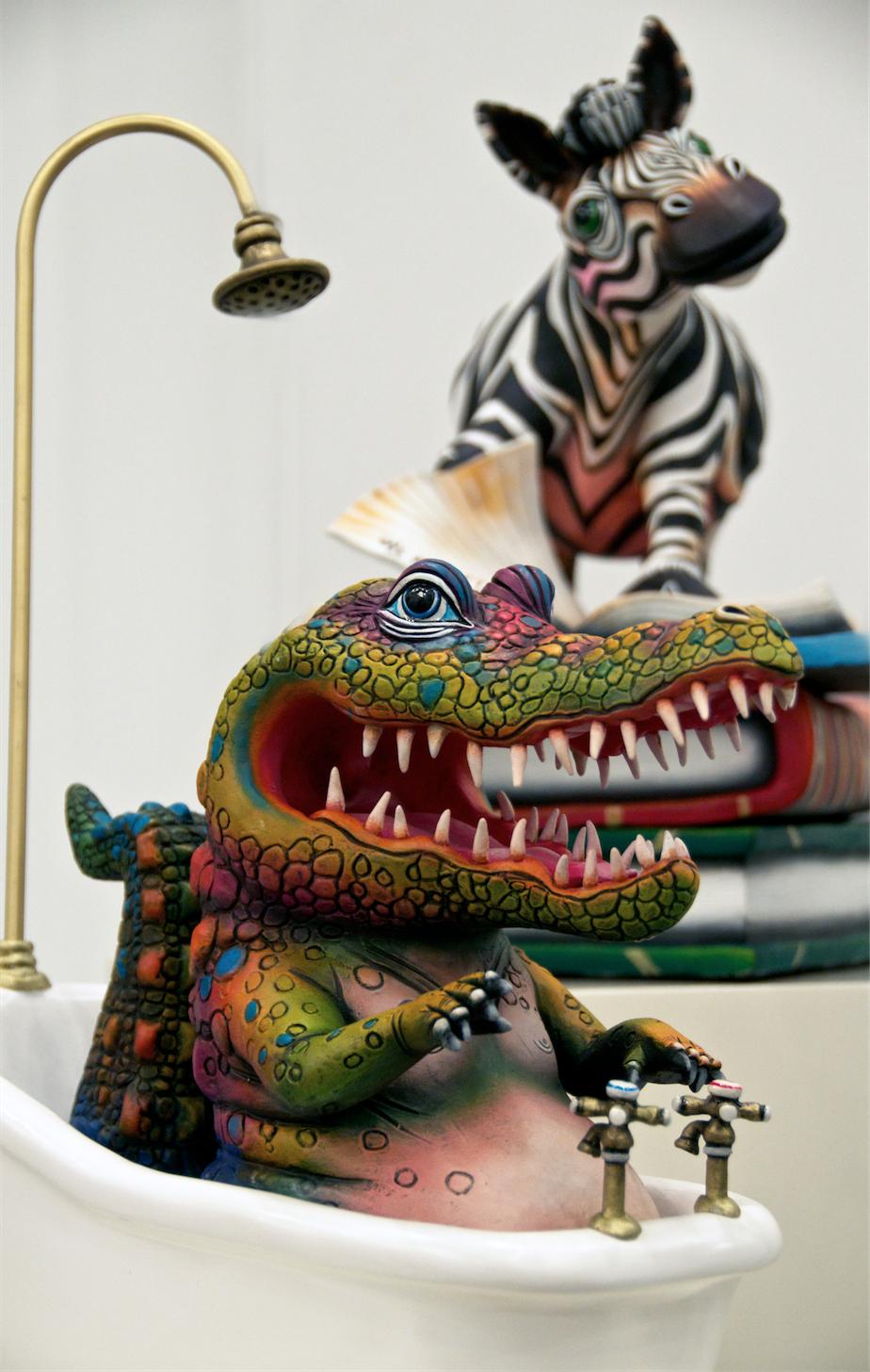 Crocodile and Zebra Bathtub