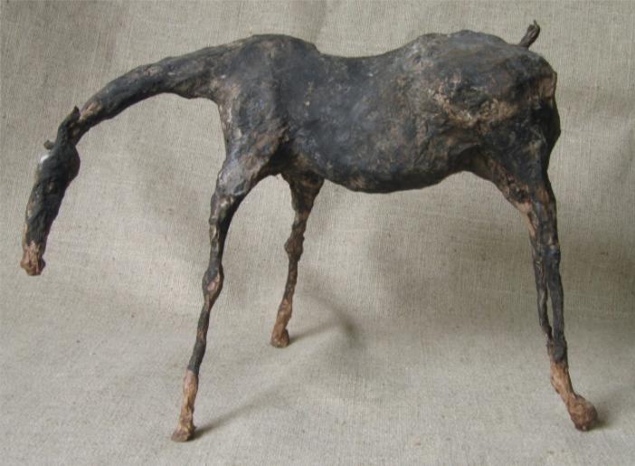 """Linum IV (18"""" Tall) Sculpture of Paper Mache"""