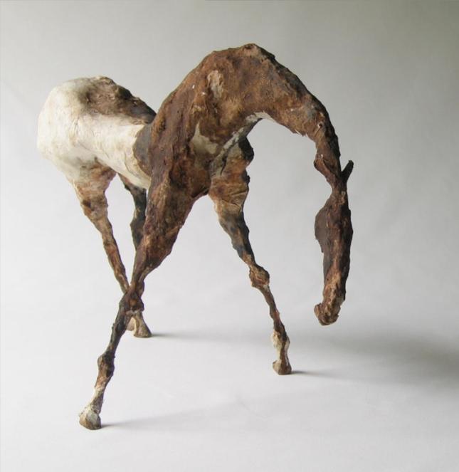 """Terne II (8"""" Tall) Sculpture of Paper Mache"""
