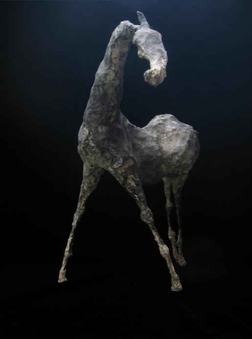 "Resonnance IV (13.4"" Tall) Sculpture of Paper Mache"