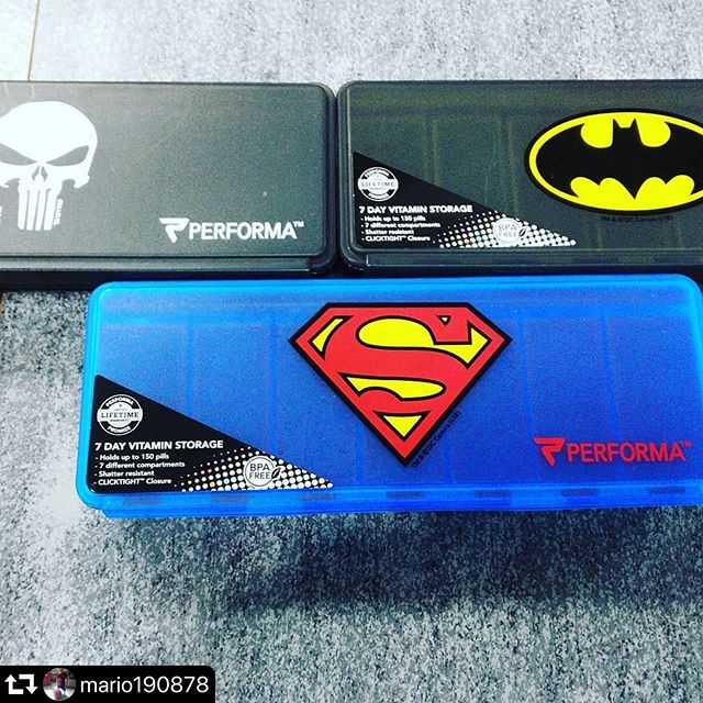 #repost @mario190878 ・・・ The coolest thing ever! Just saw these at #bodyglow2001  if you're forgetful like me with your daily supps this is just the thing! . Get yours before they fly off the shelves 😆 . Thank you @mario190878 one of our valued customers for sharing 👊🏼 —————————————- #supplements #vitamins #pills #pillcase #superheroes #livelifefit #wellness #bodyglow2001