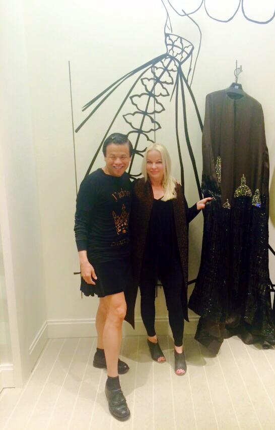 Kathryn Allen with designer, Zang Toi.