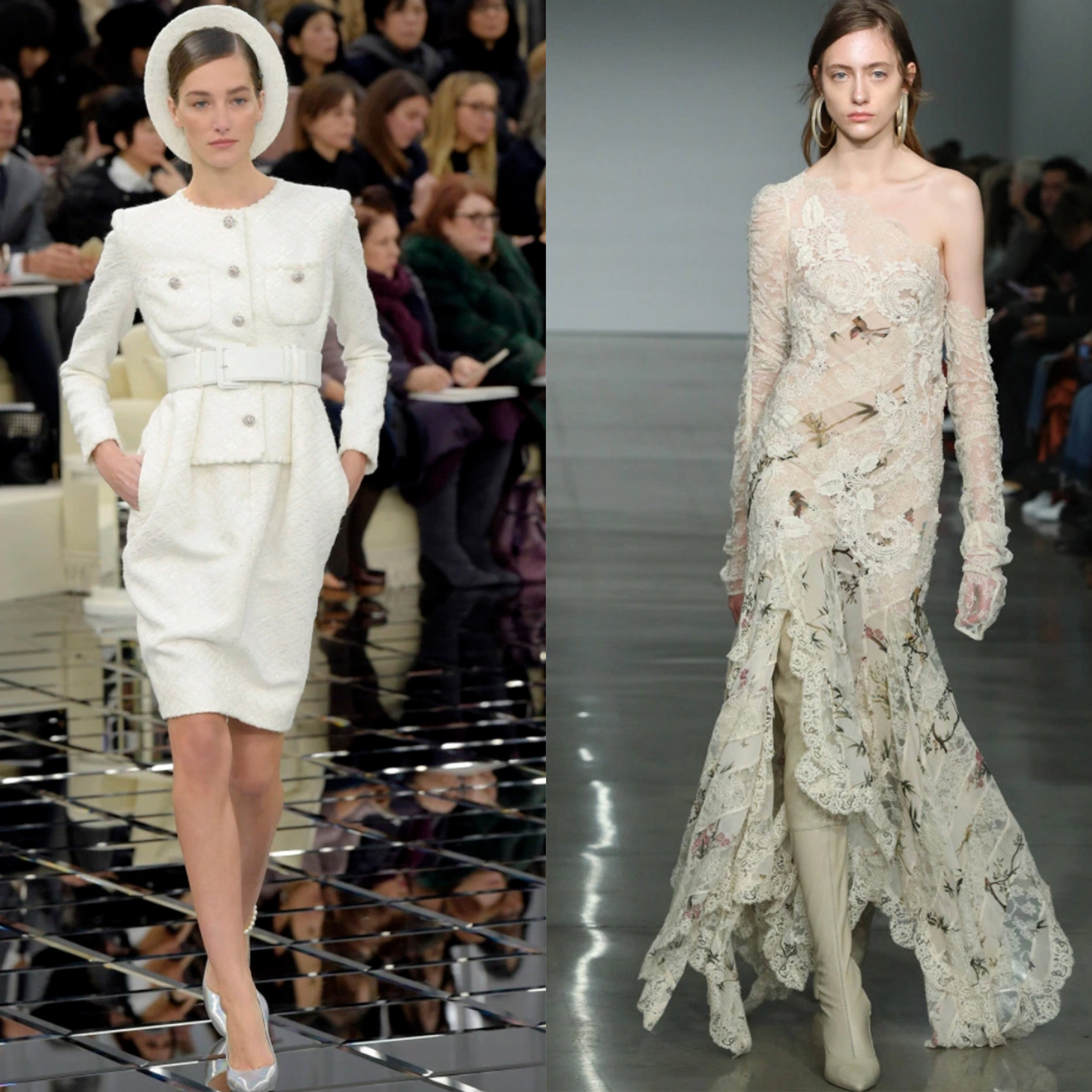Left: Image from Chanel's Spring Couture 2017 Show. Right: Image from Zimmermann's RTW Fall 2017 Show.