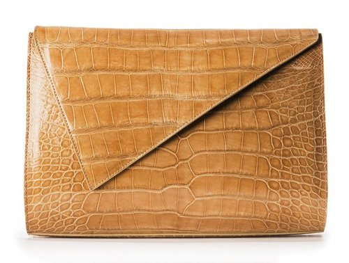 Kathryn Allen Couture's Chestnut Crocodile Niyah Clutch