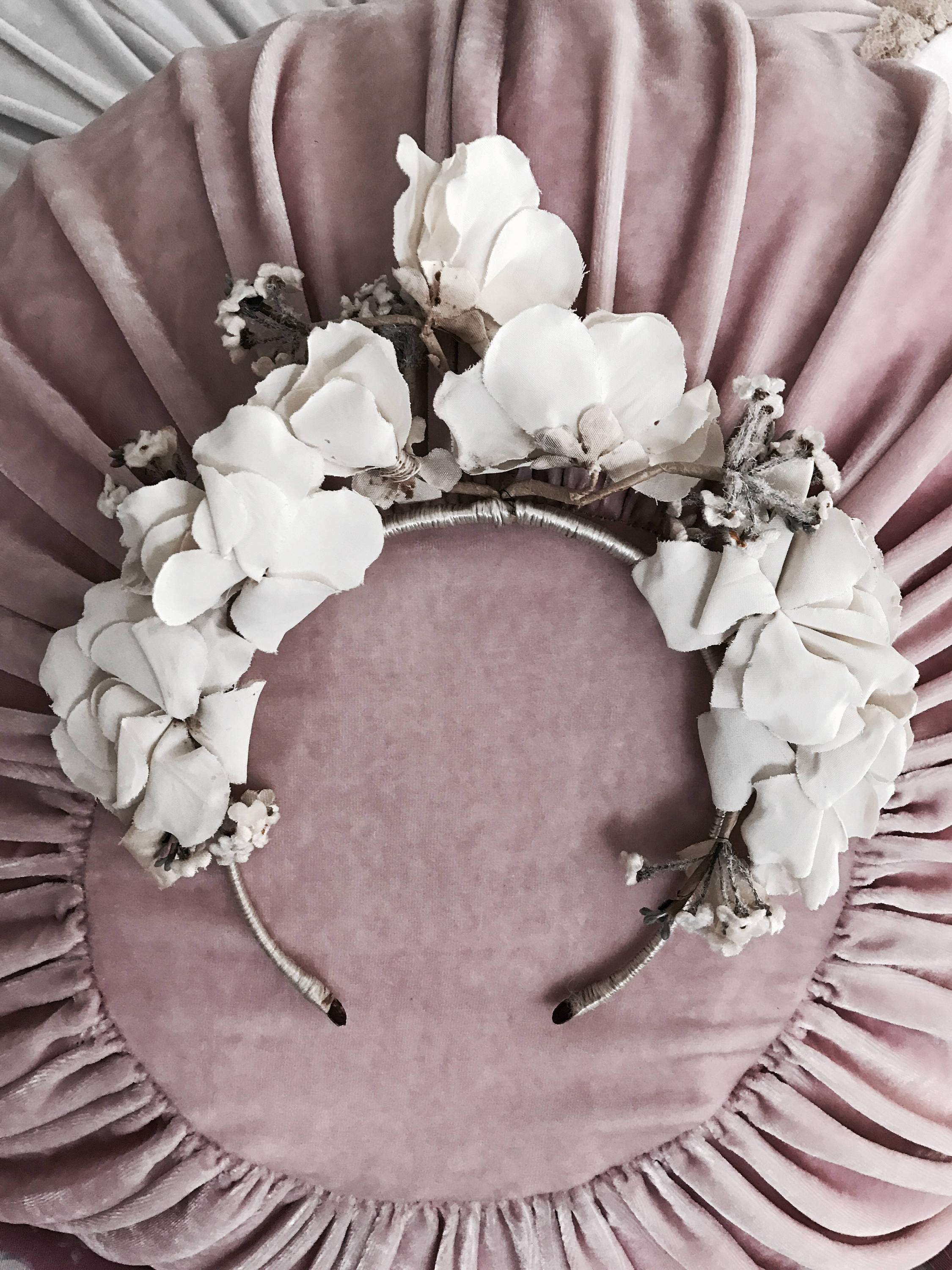 Antique Millinery Flower Crown.  SHOP THE LOOK