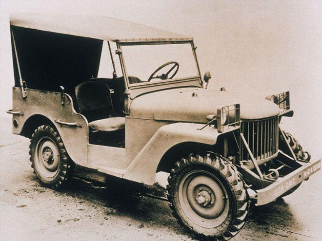A vintage Jeep