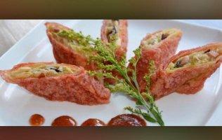 Crispy Vegetable Tofu-Skin Wraps
