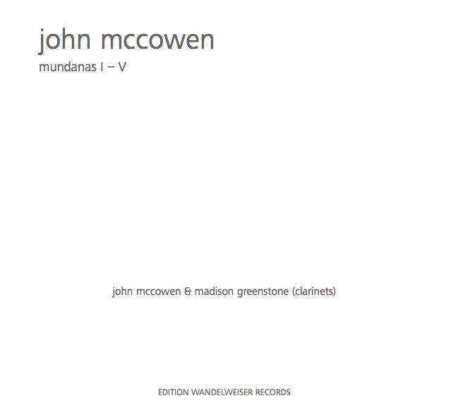 - JOHN McCOWEN - MUNDANAS I-Vcd / digitalEDITION WANDELWEISERNOVEMBER 2018