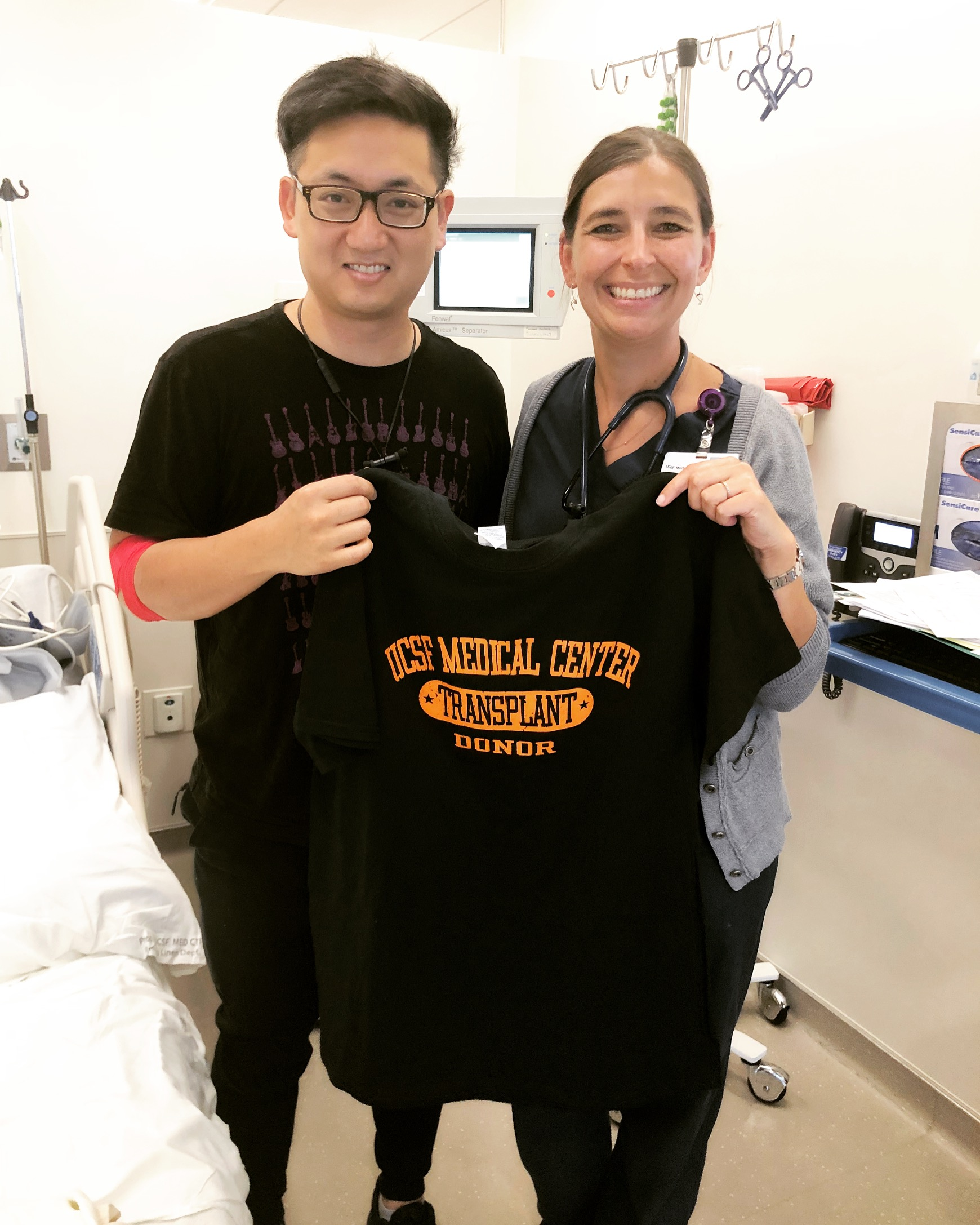 Tim with our amazing nurse Brenda at UCSF.