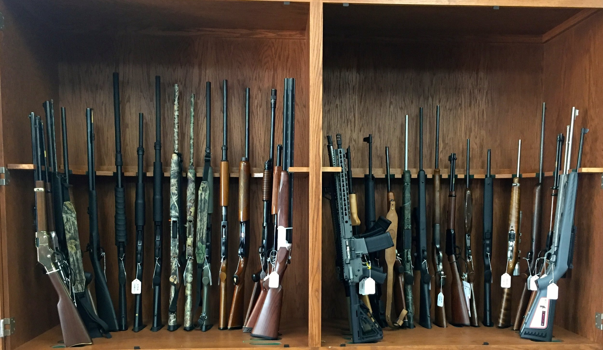 Rifles, shot guns, tactical and more.