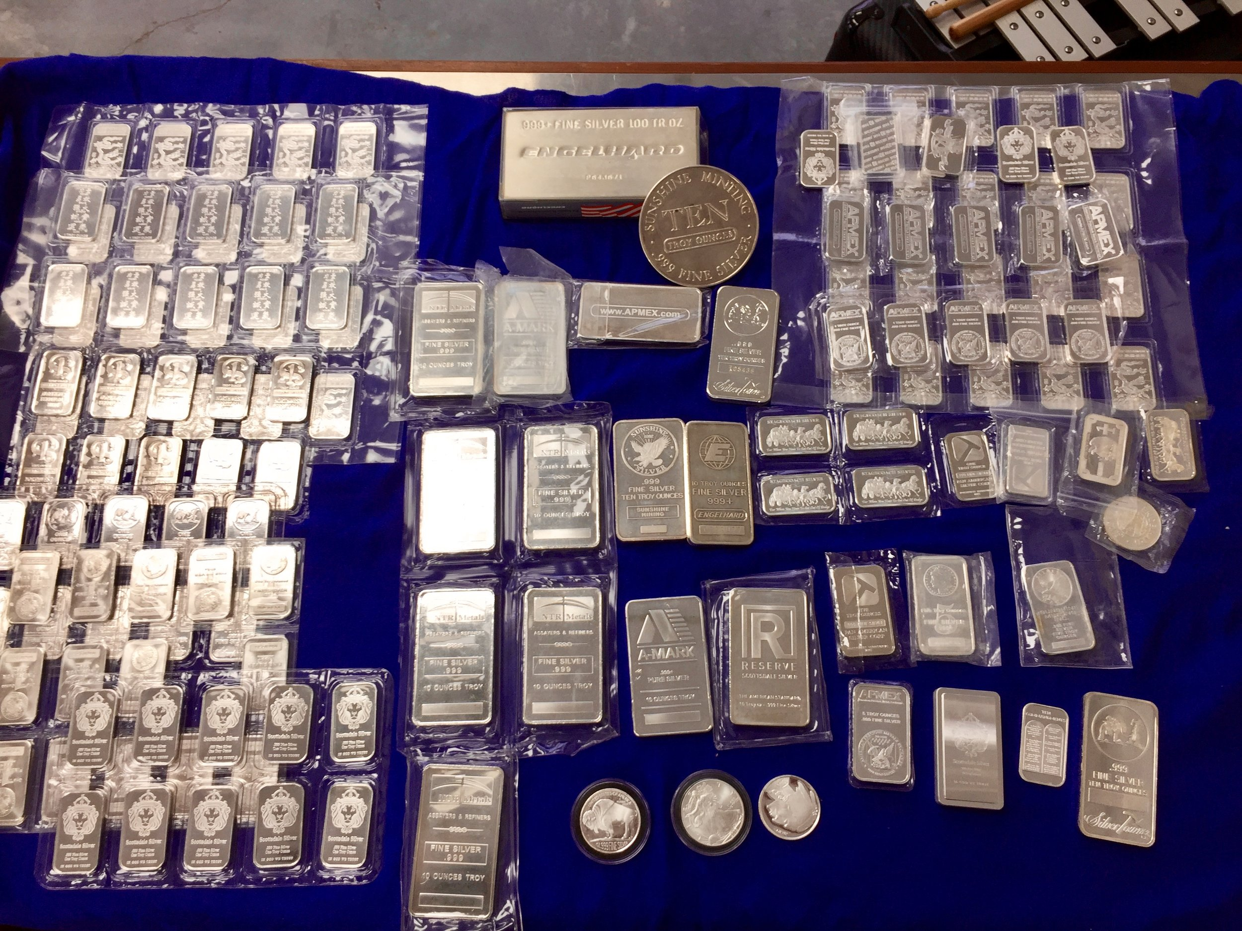 We have a huge selection of silver bullion, ingots, rounds and strikes.  All priced lower that any other dealer.