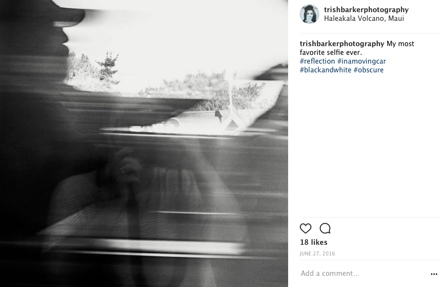 Ha... even fewer likes... and guess what?  I don't give a CRAP.  That is, LEGIT, my favorite selfie ever.  It's my bloody reflection in a moving car.  18 likes or 0 likes.  THAT is an awesome photo in my book and I'm glad I shared it.
