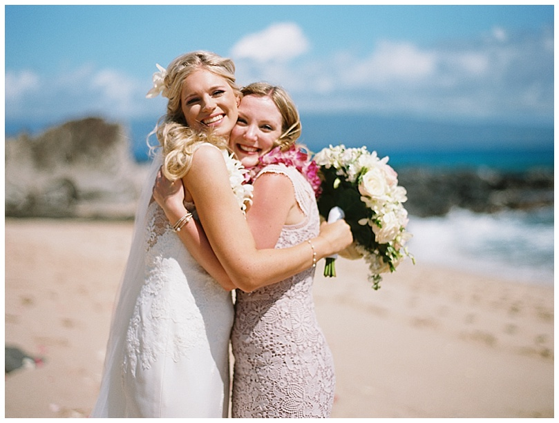 ironwoods-beach-elopement-maui-bride-maid-of-honor-hug
